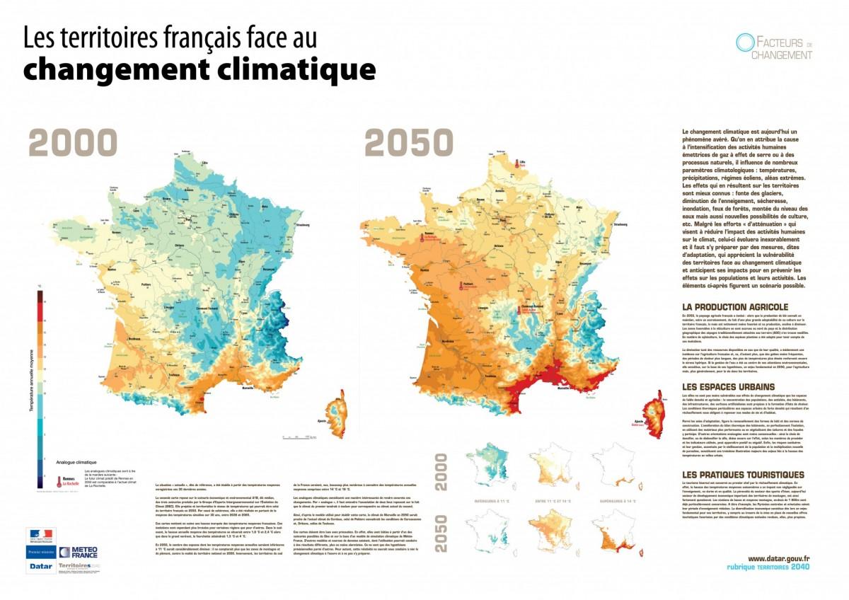 Carte Climat Europe 2050.L Exposition La France De 2040 Geographie Et Prospective