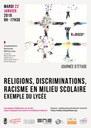 Journée d'étude Religions, discriminations, racisme en milieu scolaire