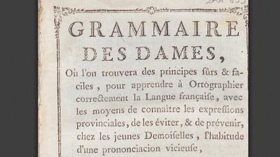 Grammaire des Dames